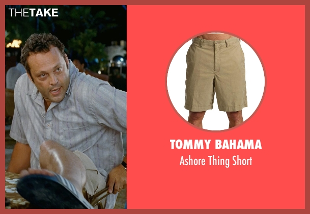 Tommy Bahama beige short from Couple's Retreat seen with Vince Vaughn (Dave)