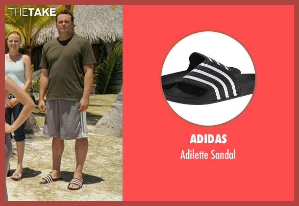 Adidas black sandal from Couple's Retreat seen with Vince Vaughn (Dave)
