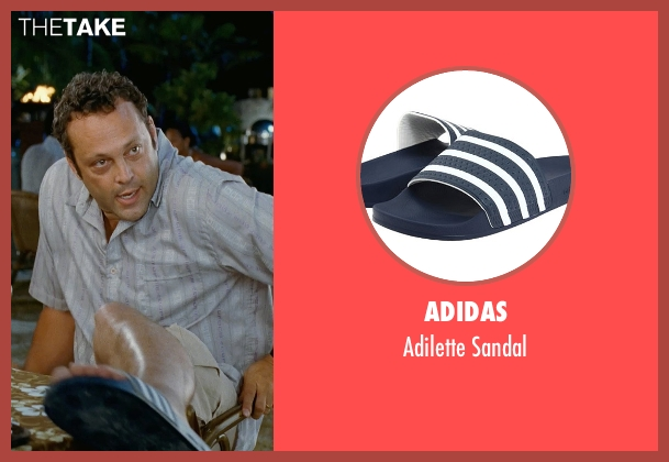 Adidas blue sandal from Couple's Retreat seen with Vince Vaughn (Dave)