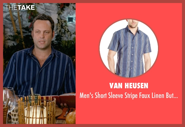 Van Heusen blue shirt from Couple's Retreat seen with Vince Vaughn (Dave)