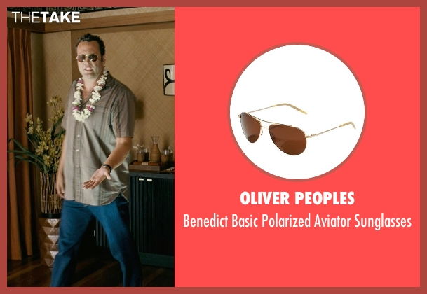 Oliver Peoples brown sunglasses from Couple's Retreat seen with Vince Vaughn (Dave)