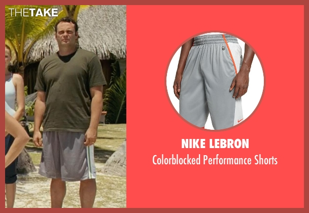 Nike Lebron gray shorts from Couple's Retreat seen with Vince Vaughn (Dave)