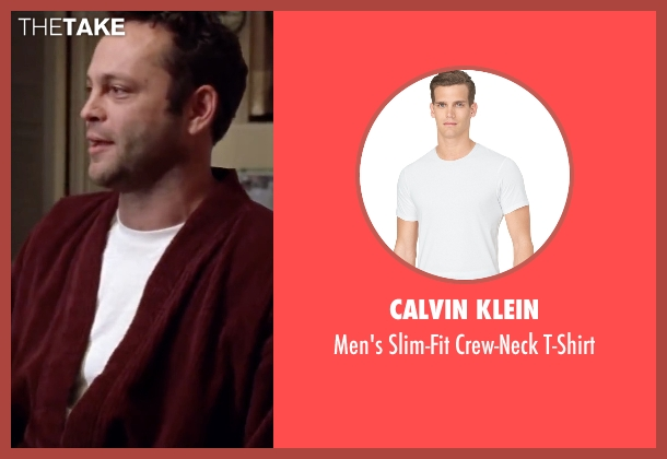 Calvin Klein white t-shirt from Mr. & Mrs. Smith seen with Vince Vaughn (Eddie)