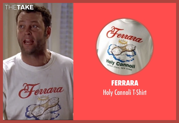 Ferrara white t-shirt from Mr. & Mrs. Smith seen with Vince Vaughn (Eddie)