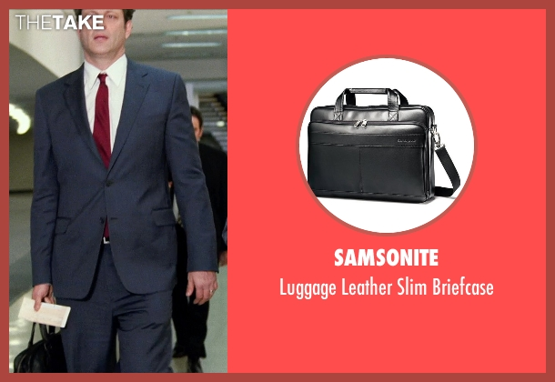 Samsonite black briefcase from Unfinished Business seen with Vince Vaughn (Dan Trunkman)
