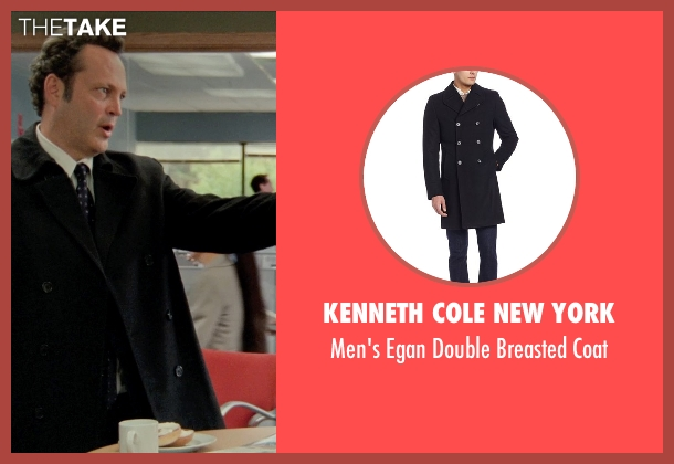 Kenneth Cole New York black coat from Unfinished Business seen with Vince Vaughn (Dan Trunkman)