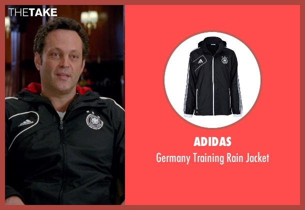 Adidas black jacket from Unfinished Business seen with Vince Vaughn (Dan Trunkman)