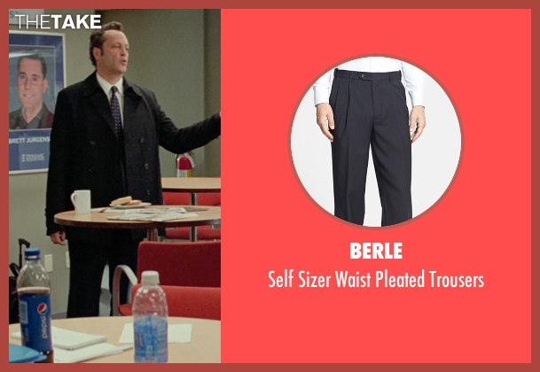 Berle black trousers from Unfinished Business seen with Vince Vaughn (Dan Trunkman)