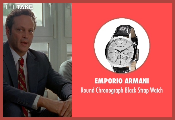 Emporio Armani black watch from Unfinished Business seen with Vince Vaughn (Dan Trunkman)