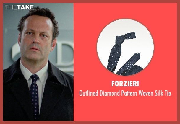 Forzieri blue tie from Unfinished Business seen with Vince Vaughn (Dan Trunkman)