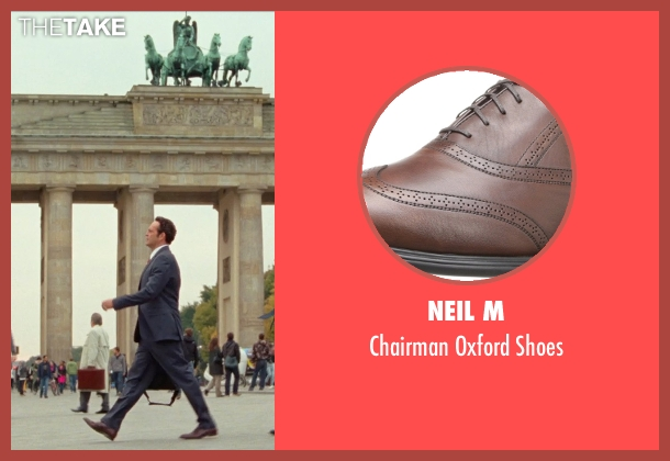 Neil M brown shoes from Unfinished Business seen with Vince Vaughn (Dan Trunkman)
