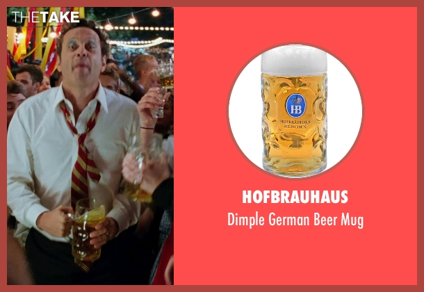Hofbrauhaus mug from Unfinished Business seen with Vince Vaughn (Dan Trunkman)