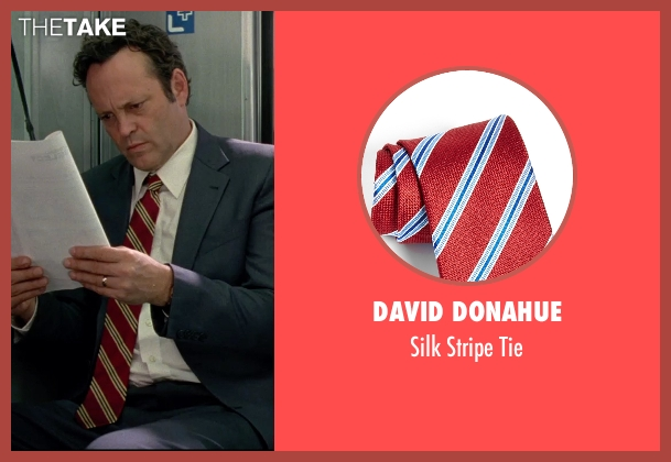 David Donahue red tie from Unfinished Business seen with Vince Vaughn (Dan Trunkman)