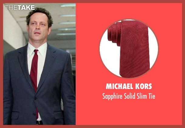 Michael Kors red tie from Unfinished Business seen with Vince Vaughn (Dan Trunkman)