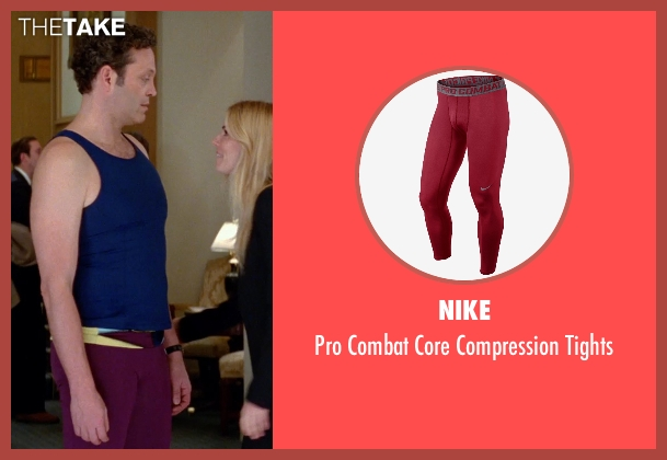 Nike red tights from Unfinished Business seen with Vince Vaughn (Dan Trunkman)