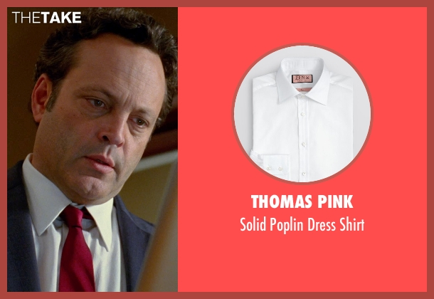Thomas Pink white shirt from Unfinished Business seen with Vince Vaughn (Dan Trunkman)