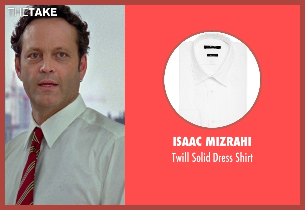 Isaac Mizrahi white shirt from Unfinished Business seen with Vince Vaughn (Dan Trunkman)