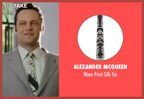 Alexander Mcqueen black tie from Wedding Crashers seen with Vince Vaughn (Jeremy Grey)