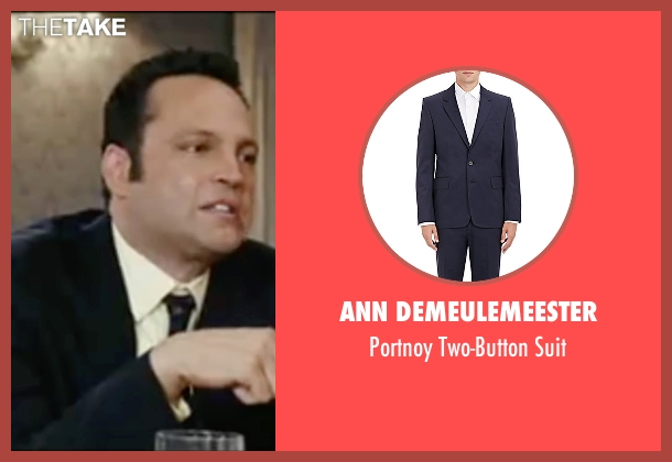 Ann Demeulemeester blue suit from Wedding Crashers seen with Vince Vaughn (Jeremy Grey)