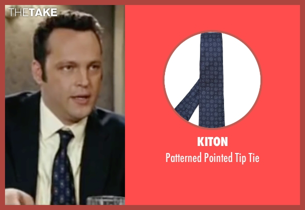 Kiton blue tie from Wedding Crashers seen with Vince Vaughn (Jeremy Grey)