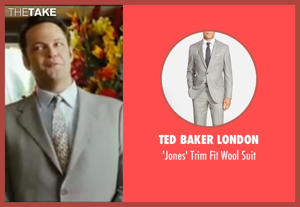Ted Baker London gray suit from Wedding Crashers seen with Vince Vaughn (Jeremy Grey)