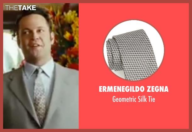 Ermenegildo Zegna gray tie from Wedding Crashers seen with Vince Vaughn (Jeremy Grey)