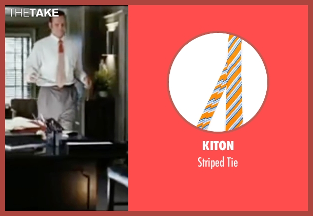 Kiton orange tie from Wedding Crashers seen with Vince Vaughn (Jeremy Grey)
