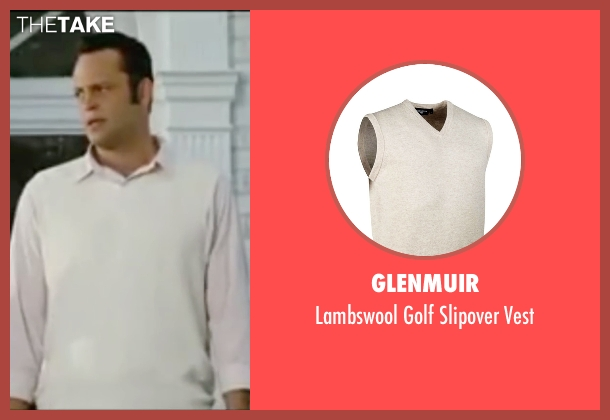 Glenmuir white vest from Wedding Crashers seen with Vince Vaughn (Jeremy Grey)