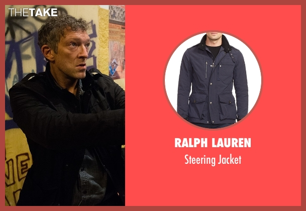 Ralph Lauren black jacket from Jason Bourne seen with Vincent Cassel (Asset)