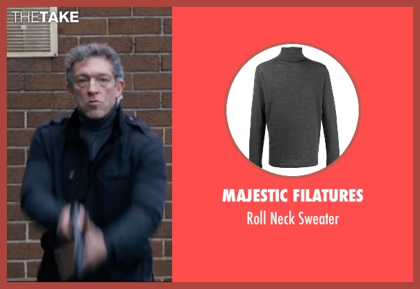 Brloote gray sweater from Jason Bourne seen with Vincent Cassel (Asset)