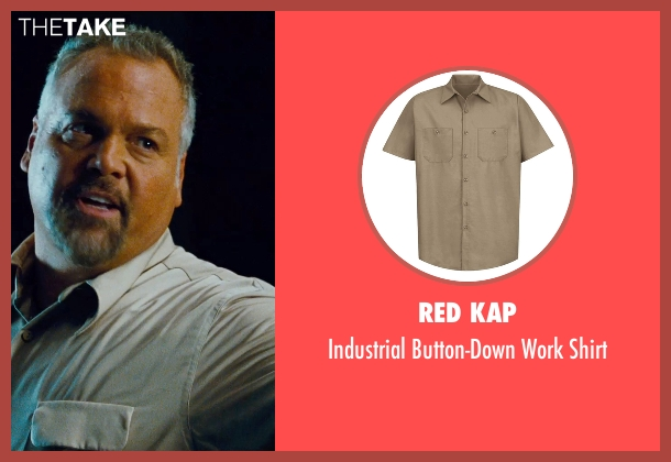 Wrangler beige shirt from Jurassic World seen with Vincent D'Onofrio (Vic Hoskins)