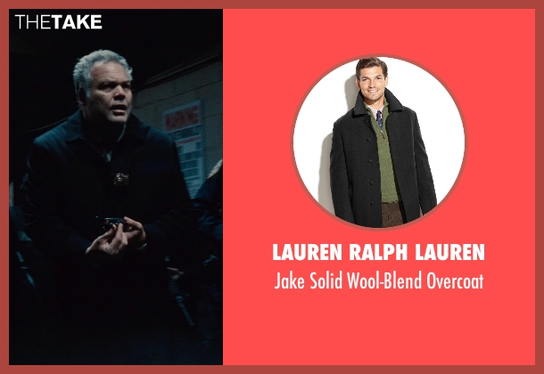 Lauren Ralph Lauren black overcoat from Run All Night seen with Vincent D'Onofrio (Detective Harding)
