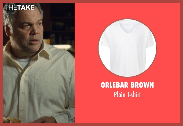 Orlebar Brown white t-shirt from The Judge seen with Vincent D'Onofrio (Glen Palmer)