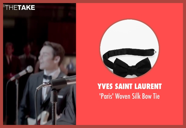 Yves Saint Laurent black tie from Jersey Boys seen with Vincent Piazza (Tommy DeVito)