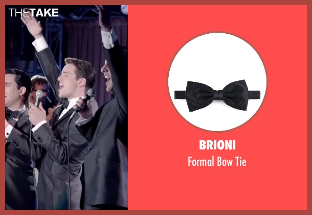 Brioni black tie from Jersey Boys seen with Vincent Piazza (Tommy DeVito)