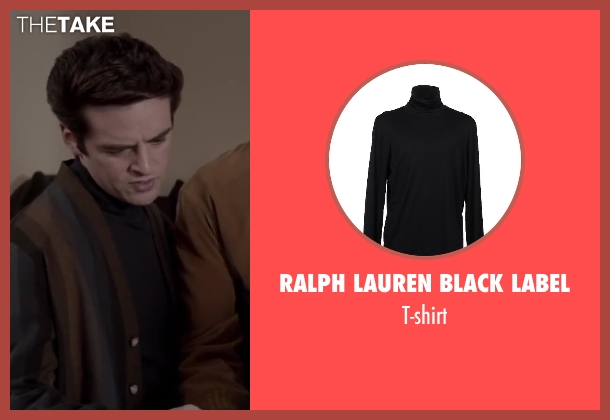 RALPH LAUREN BLACK LABEL black t-shirt from Jersey Boys seen with Vincent Piazza (Tommy DeVito)