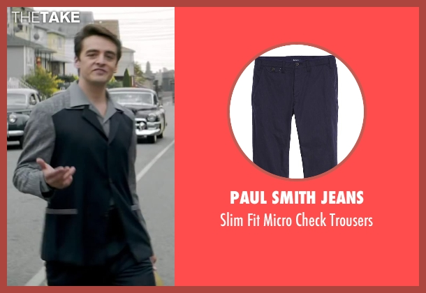 Paul Smith Jeans blue trousers from Jersey Boys seen with Vincent Piazza (Tommy DeVito)