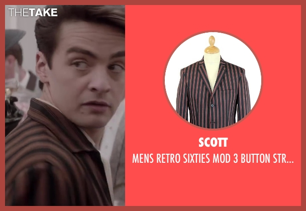SCOTT brown blazer from Jersey Boys seen with Vincent Piazza (Tommy DeVito)