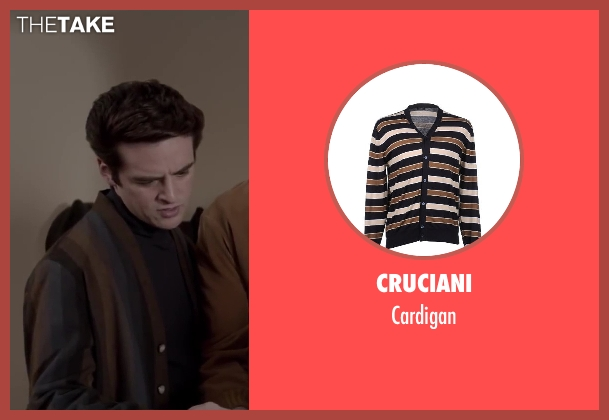 CRUCIANI brown cardigan from Jersey Boys seen with Vincent Piazza (Tommy DeVito)