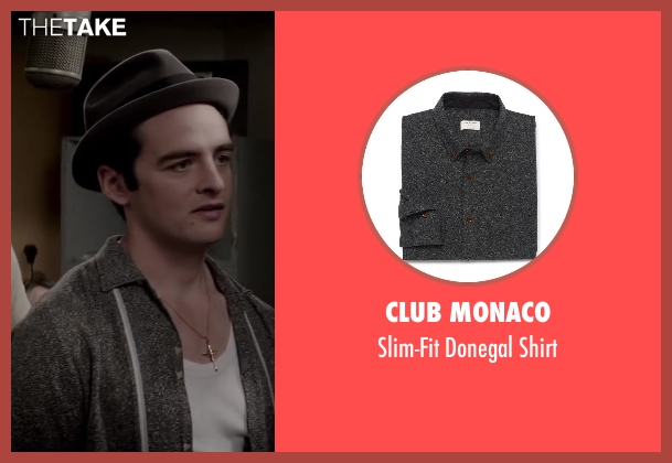CLUB MONACO gray shirt from Jersey Boys seen with Vincent Piazza (Tommy DeVito)
