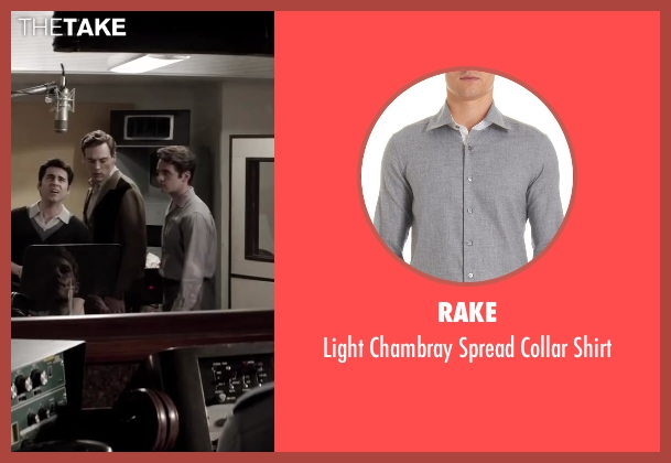 RAKE gray shirt from Jersey Boys seen with Vincent Piazza (Tommy DeVito)