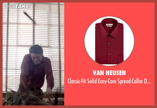 Van Heusen red shirt from Jersey Boys seen with Vincent Piazza (Tommy DeVito)