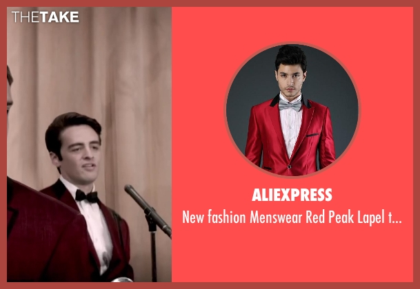 Aliexpress red tuxedo from Jersey Boys seen with Vincent Piazza (Tommy DeVito)