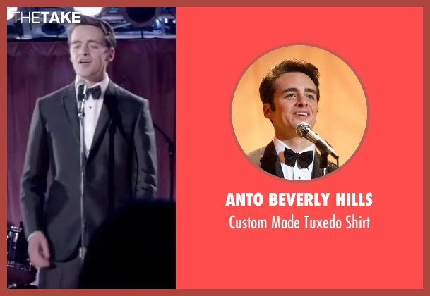 Anto Beverly Hills white shirt from Jersey Boys seen with Vincent Piazza (Tommy DeVito)