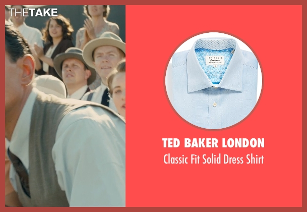 Ted Baker London blue shirt from Unbroken seen with Vincenzo Amato (Anthony Zamperini)