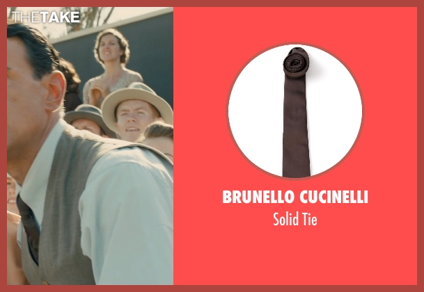 Brunello Cucinelli brown tie from Unbroken seen with Vincenzo Amato (Anthony Zamperini)