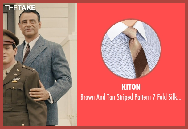 Kiton brown tie from Unbroken seen with Vincenzo Amato (Anthony Zamperini)