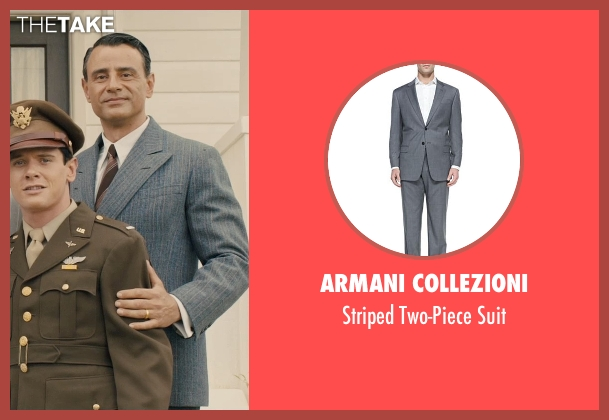 Armani Collezioni gray suit from Unbroken seen with Vincenzo Amato (Anthony Zamperini)