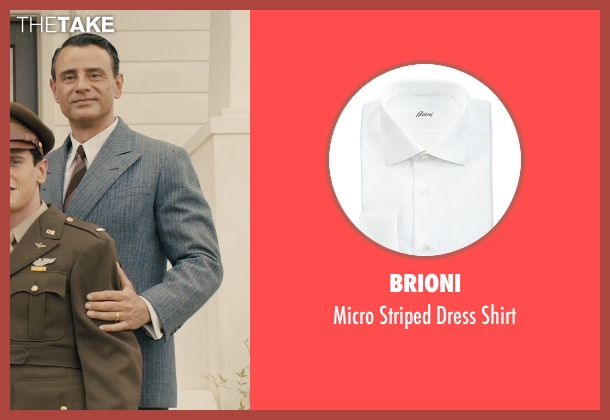 Brioni white shirt from Unbroken seen with Vincenzo Amato (Anthony Zamperini)