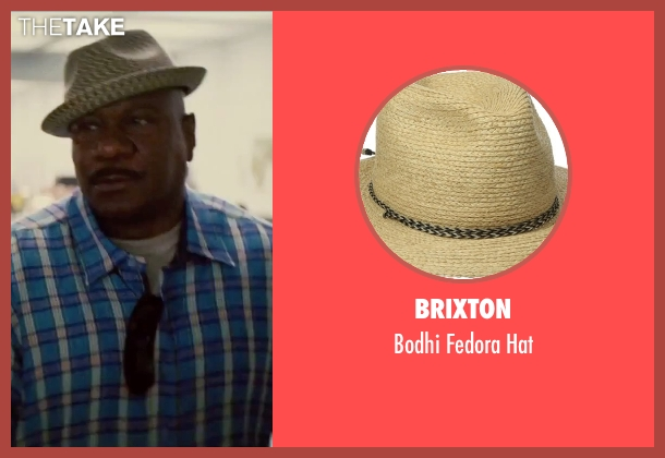 Brixton beige hat from Mission: Impossible - Rogue Nation seen with Ving Rhames (Luther Stickell)